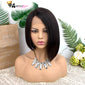 Gorgeous Straight Malaysian Bob Human Hair Wigs 150% Density