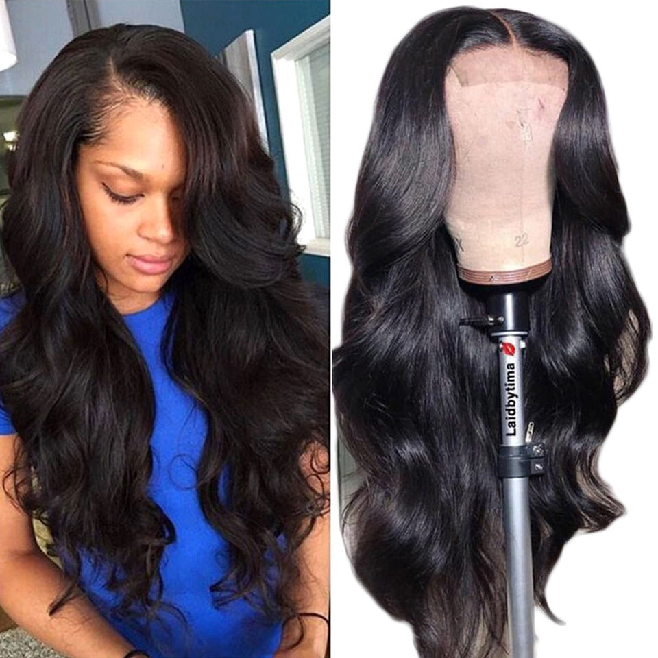 Bouncy Body Wave 4x4 Pre-Plucked Lace Wig With Baby Hair
