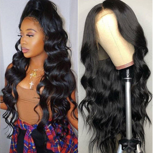 Remy Brazilian Body Wave Lace front Human Hair Wig  13x14