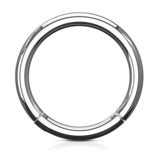 Hinged Seamless Grade 23 Solid Titanium Septum Clicker Ring