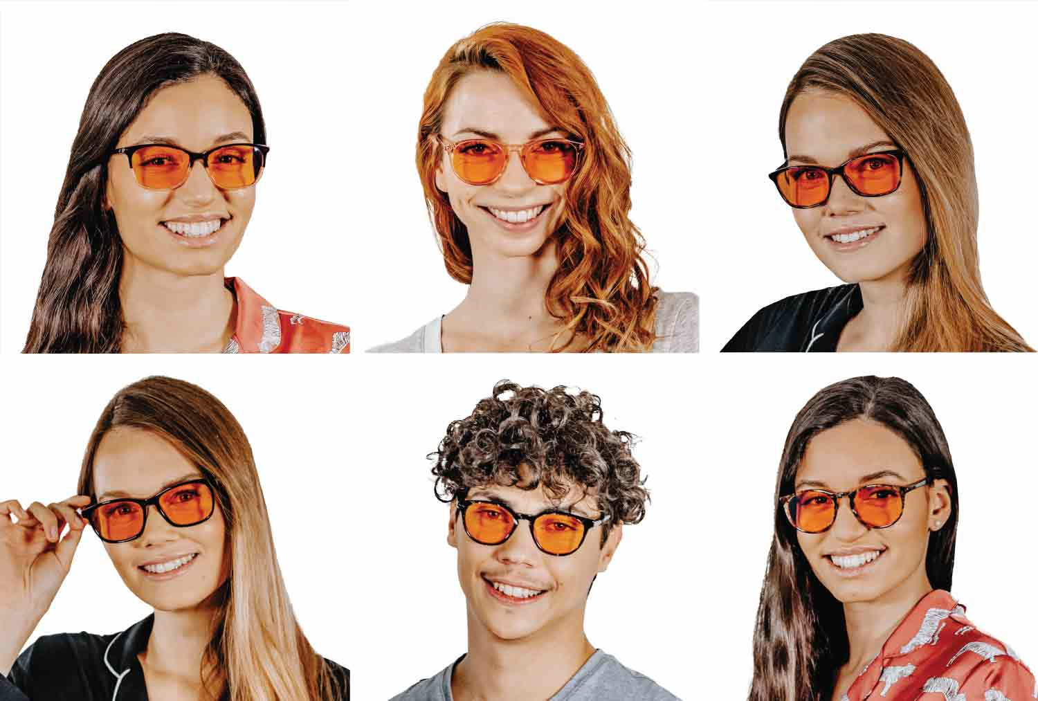 Get your style of premium blue light glasses for sleep with orange lenses