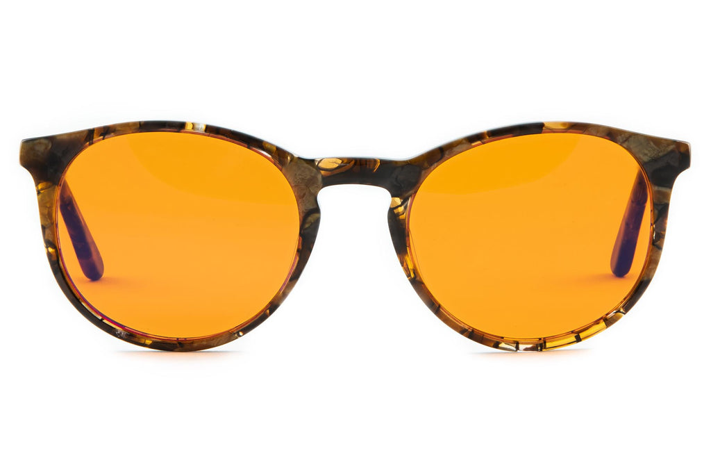 Blue Light Blocking Glasses for Better Sleep Round Pantos Narrow Honey Tortoise Acetate - THL Sleep