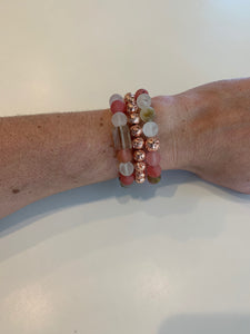 Strawberry Love Stack (3 Bracelets)