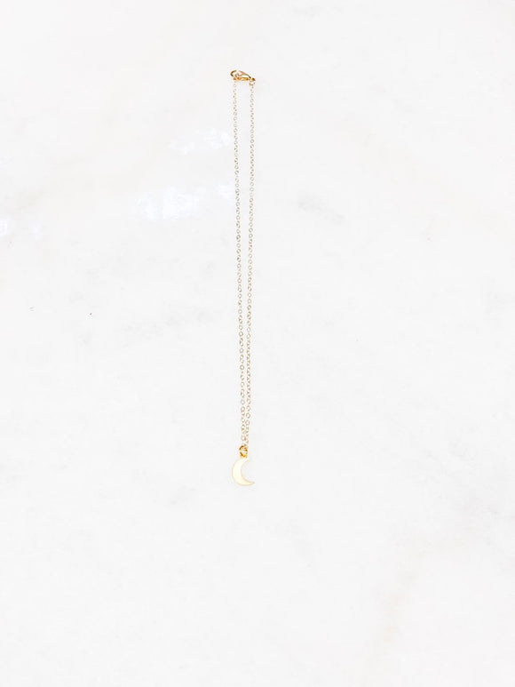 Gold Plated Moon Necklace