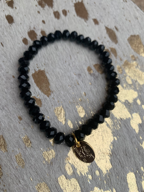 Black Glass (1 bracelet)