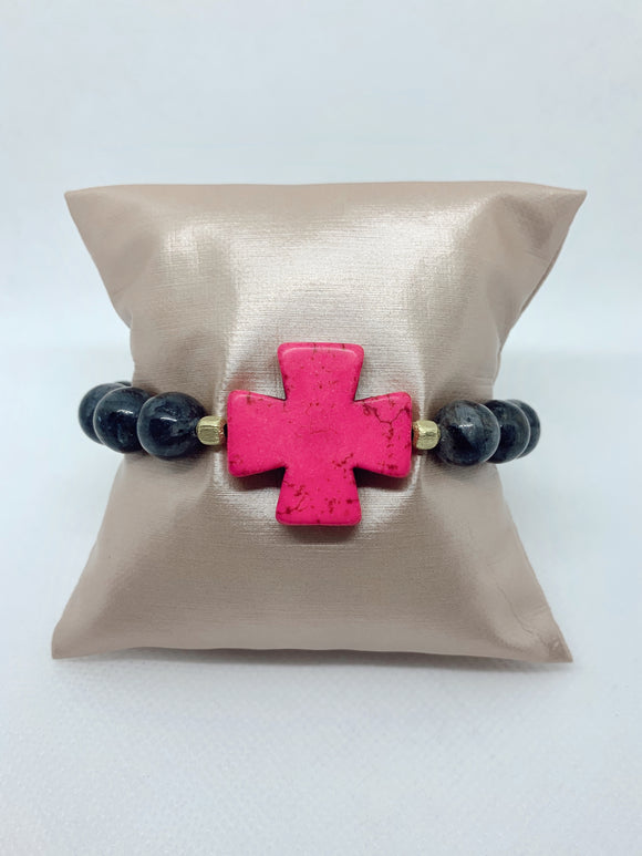 Hot Pink Cross (1 bracelet)