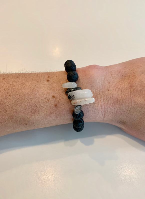 Black & White Crystals (1 bracelet)