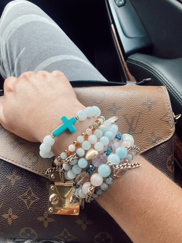 Summer Clouds Cross Bracelet(1 bracelet)