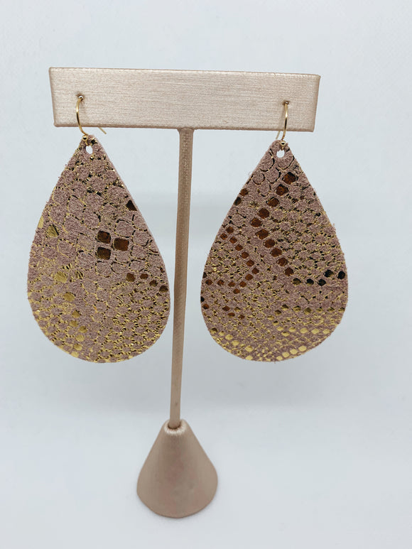 Rosegold Lust Snakeskin Earrings