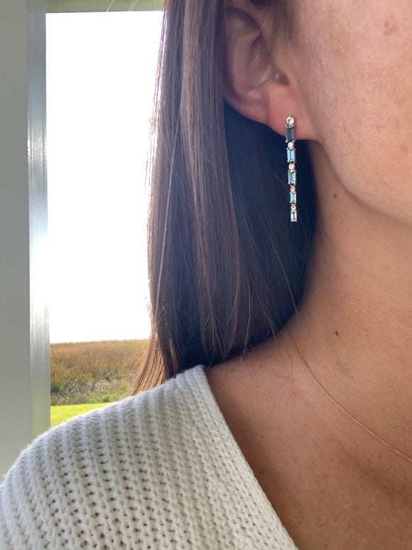 Sparkling Topaz Earrings