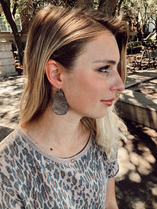 Stasia Gunmetal Earrings