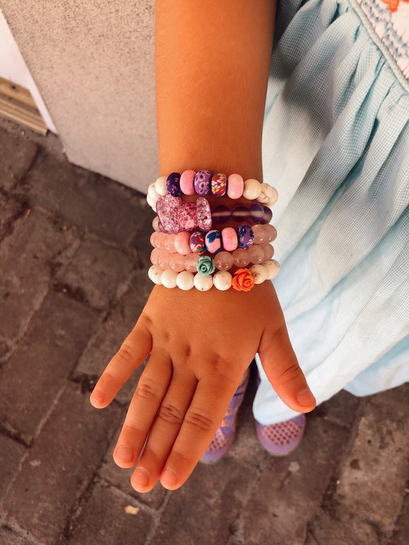 Lil' Bit Cotton Candy Rose (1 bracelet)