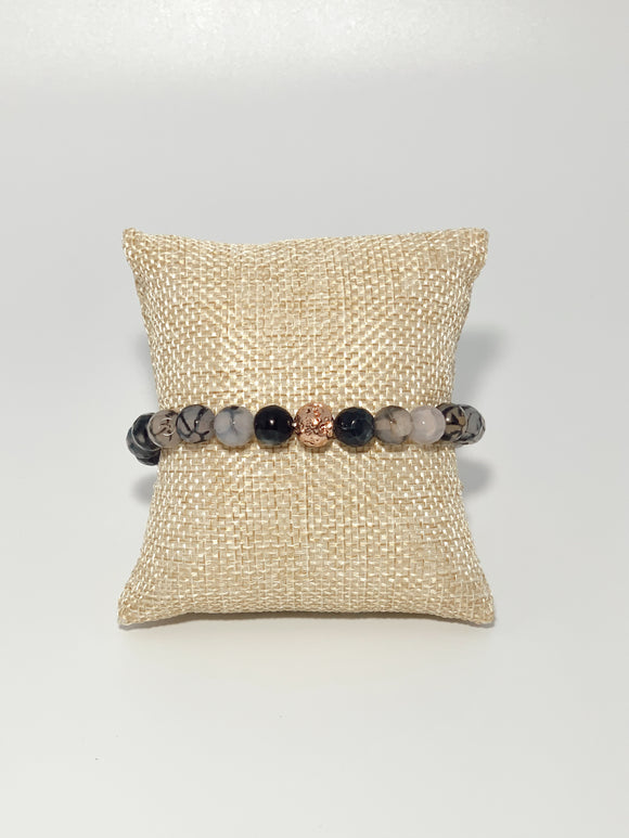 Black Crackle Lava (1 bracelet)