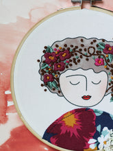 Load image into Gallery viewer, DIY Embroidery Kit, Anne in Burgundy