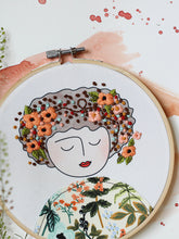 Load image into Gallery viewer, DIY Embroidery Kit, Anne with Orange Poppies (Limited Edition)