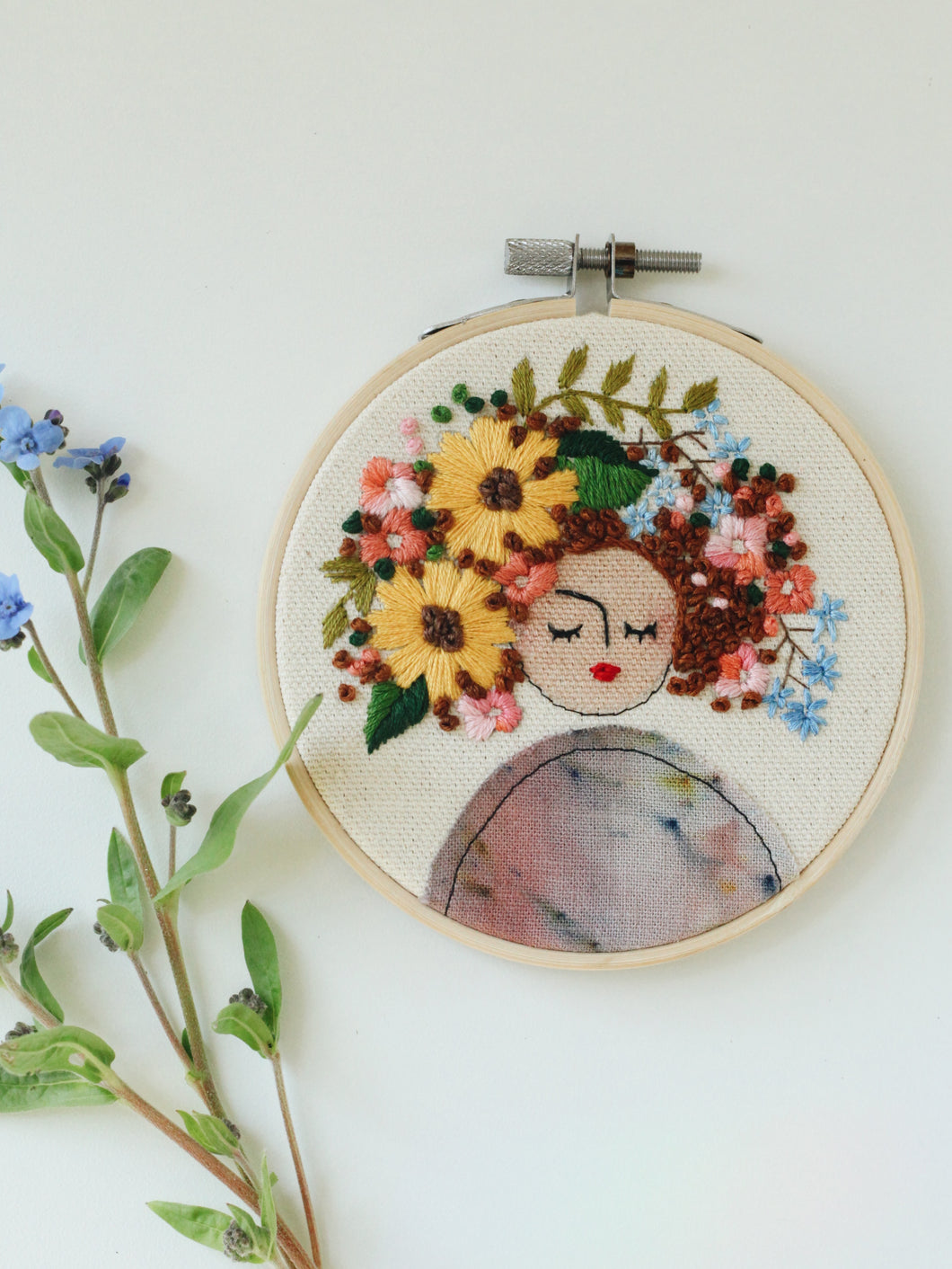 Mini Flower Head with Sunflowers