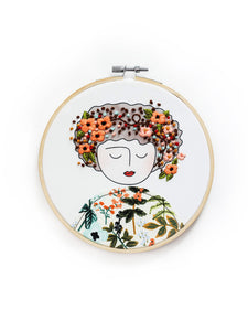 DIY Embroidery Kit, Anne with Orange Poppies (Limited Edition)
