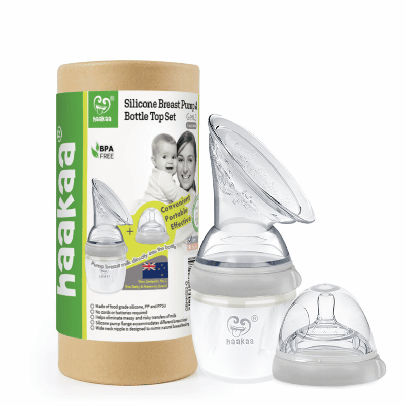 Haakaa Generation 3 Breast Pump (160 ml ) and Bottle Top Set