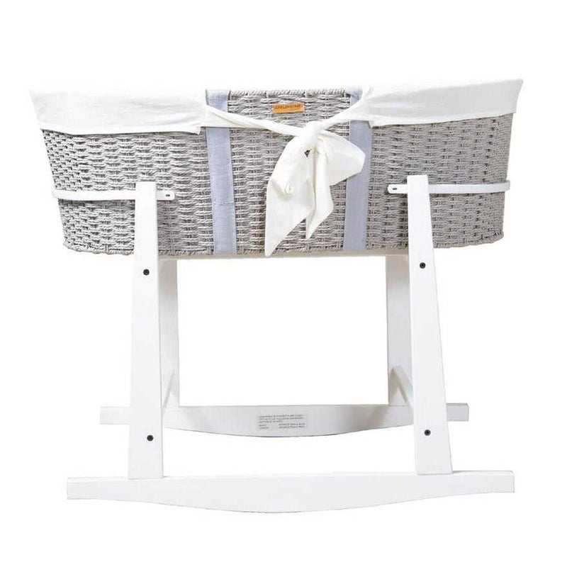 Childhome Moses Basket Grey and Stand Package