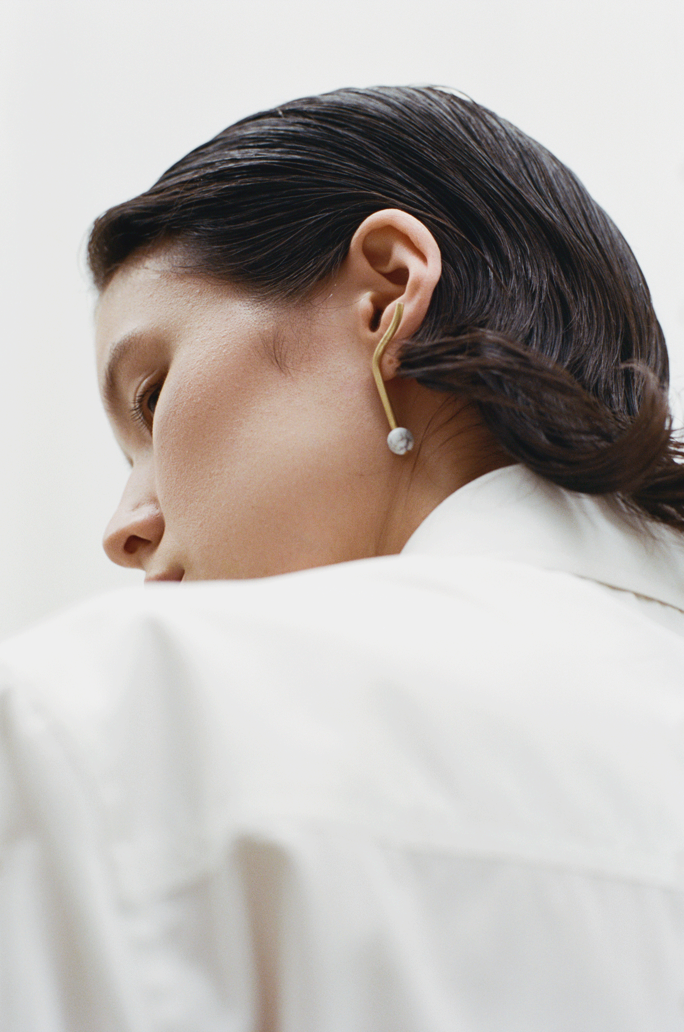 Marble P Earring