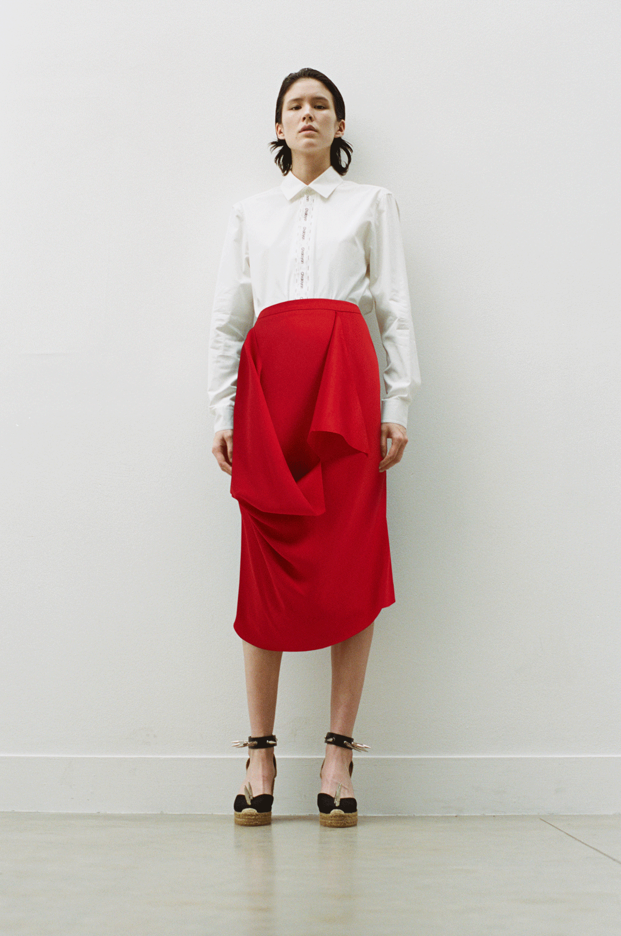 Slash Drape Skirt