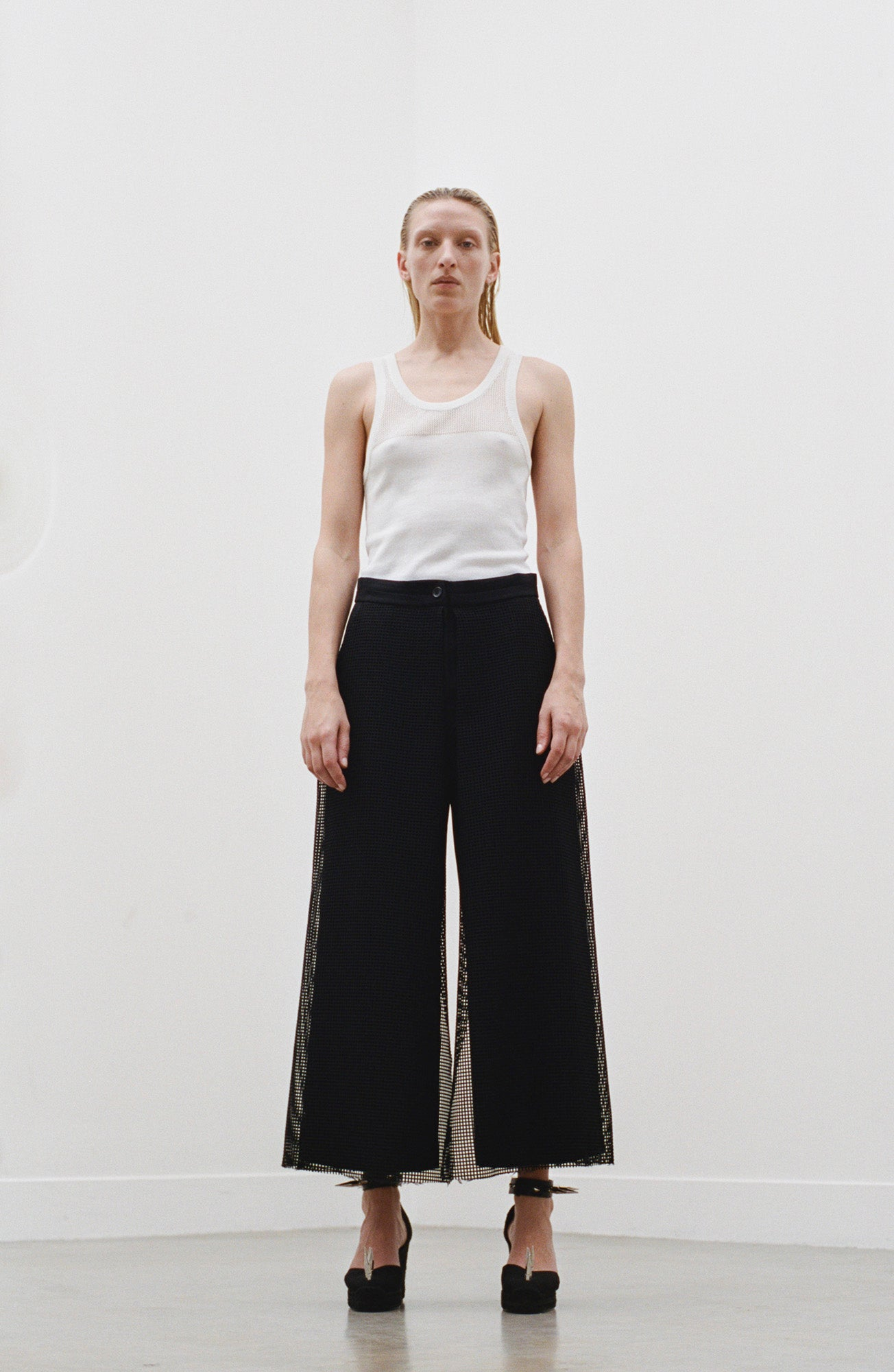 Mesh Panel Trousers