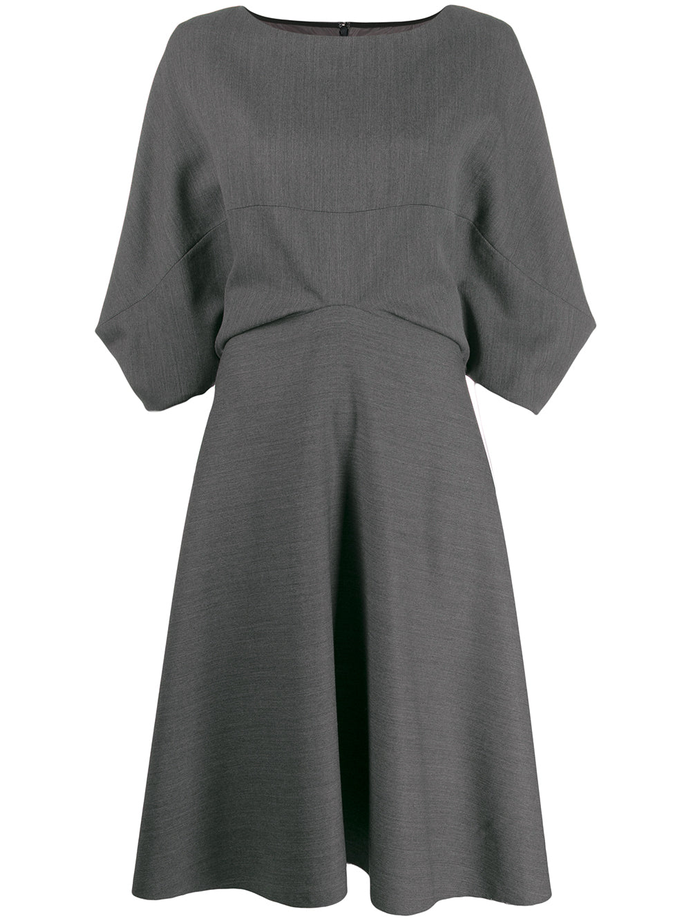 Boatneck Waisted Dress