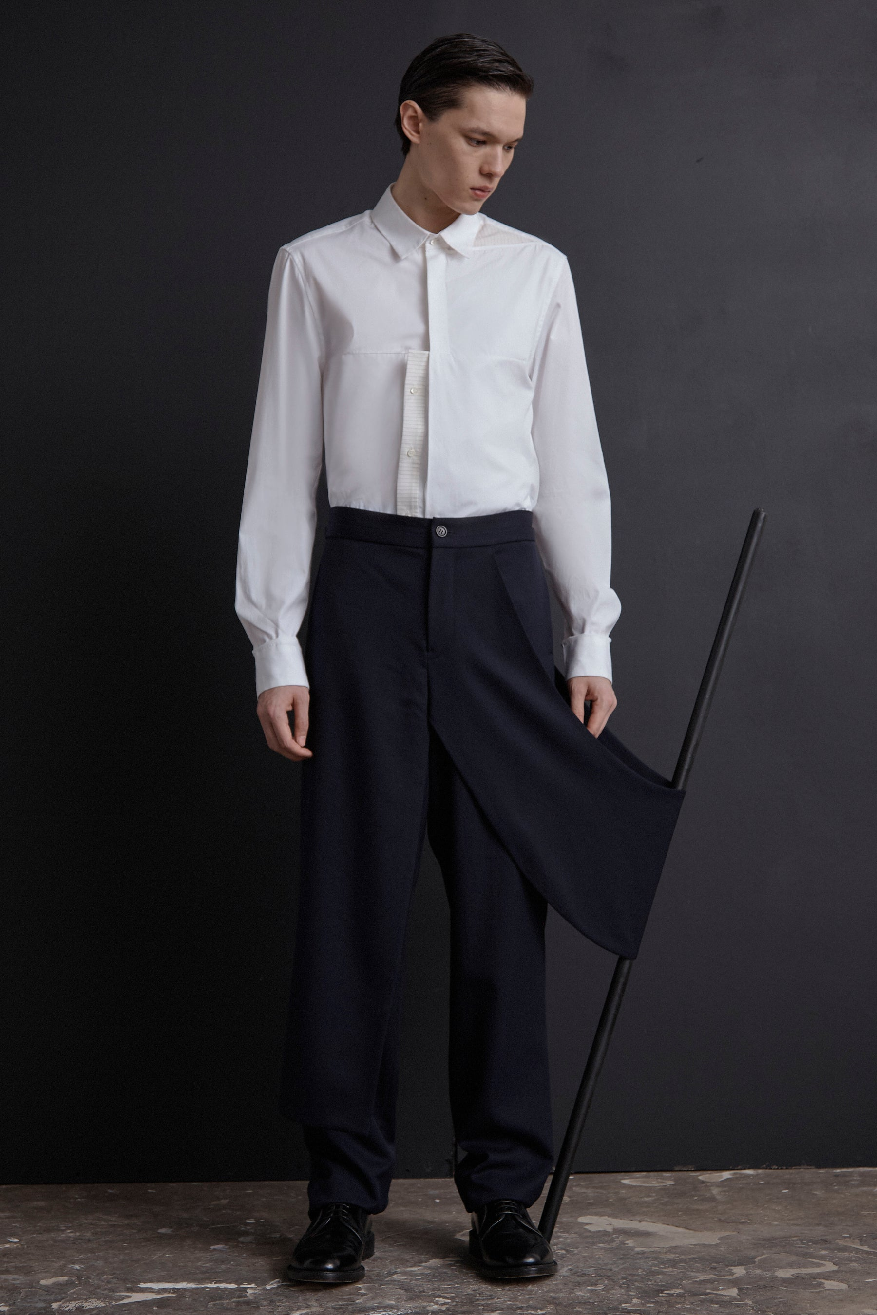 Drape Panel Trousers