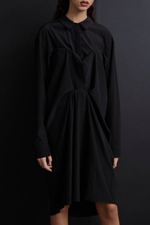 Tuck Shirt Dress