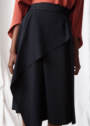 Asymmetrical Pleat Skirt