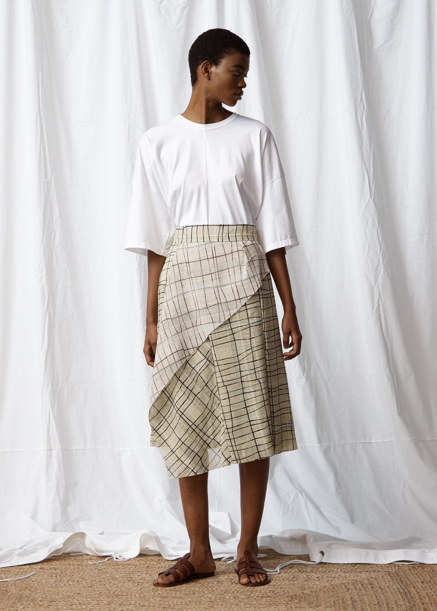 Asymemetrial Pleat Skirt