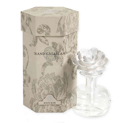 Grand Casablanca Porcelain Diffuser - White Rose