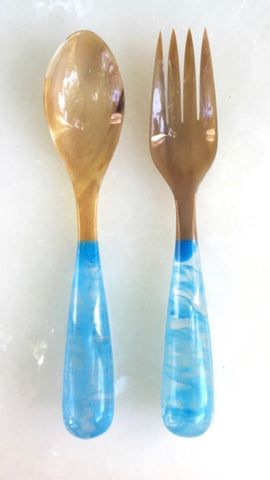 Grand Slam Salad Servers Set of 2 - Ice Blue