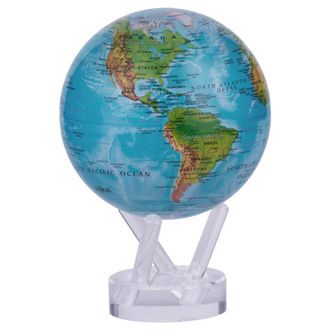 Blue Relief Map Mova Globe