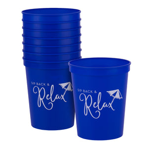 Sip Back and Relax Party Cups