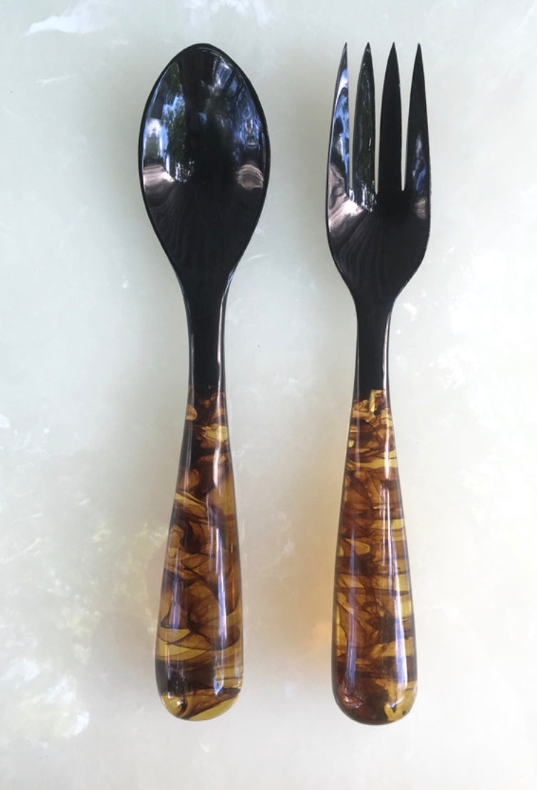 Grand Slam Salad Servers Set of 2 - Tortoise