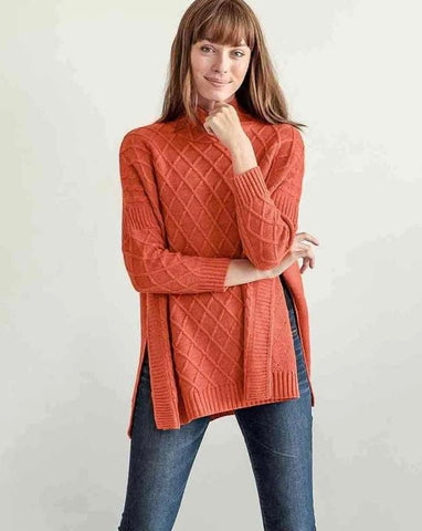 Lisbon Traveler Sweater in Orange