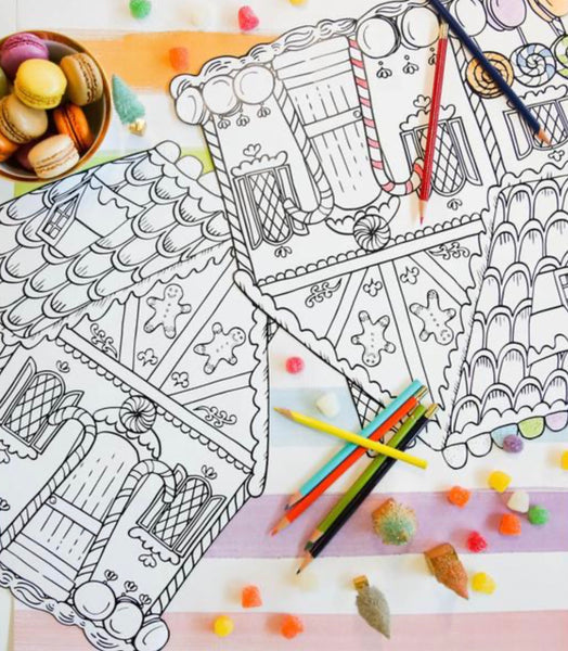 Gingerbread Coloring Placemats