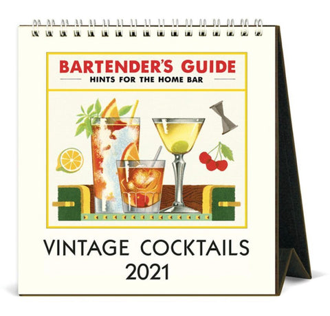 Vintage Cocktails 2021 Desk Calendar