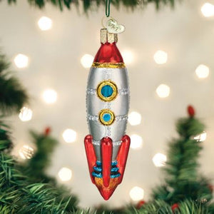 Toy Rocket Ship Ornament