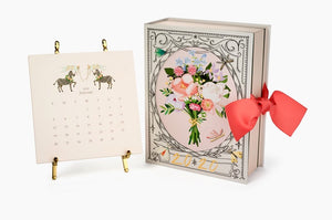 2020 Calendar with Gold Easel