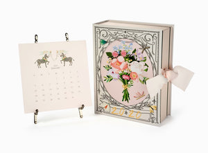 2020 Calendar with Silver Easel