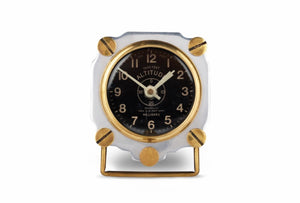 Altimeter Aluminum Table Clock