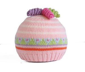 Twirly Curl Knit Baby Hat