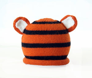 Tiger Knit Baby Hat