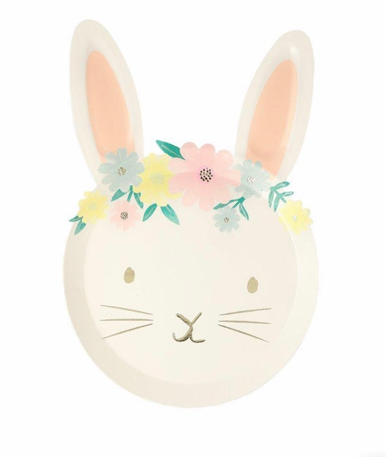 Floral Bunny Plates