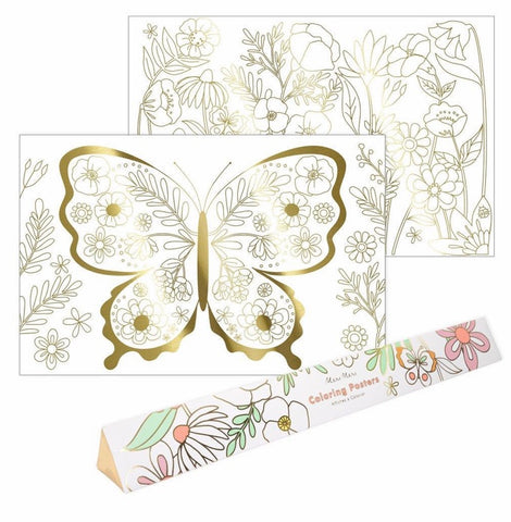 Butterfly Coloring Posters