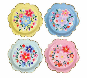 Bright Floral Large Plates