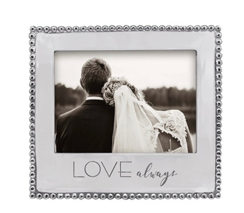 Love, Always 5 x 7 Beaded Frame