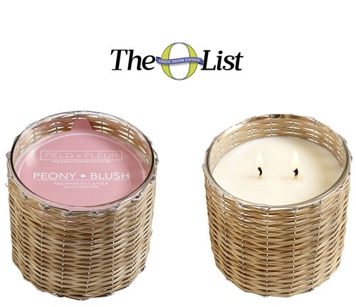 Peony Blush Handwoven Candle